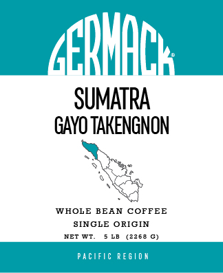 Germack Coffee (5 LB.) - Sumatra Gayo Takengnon