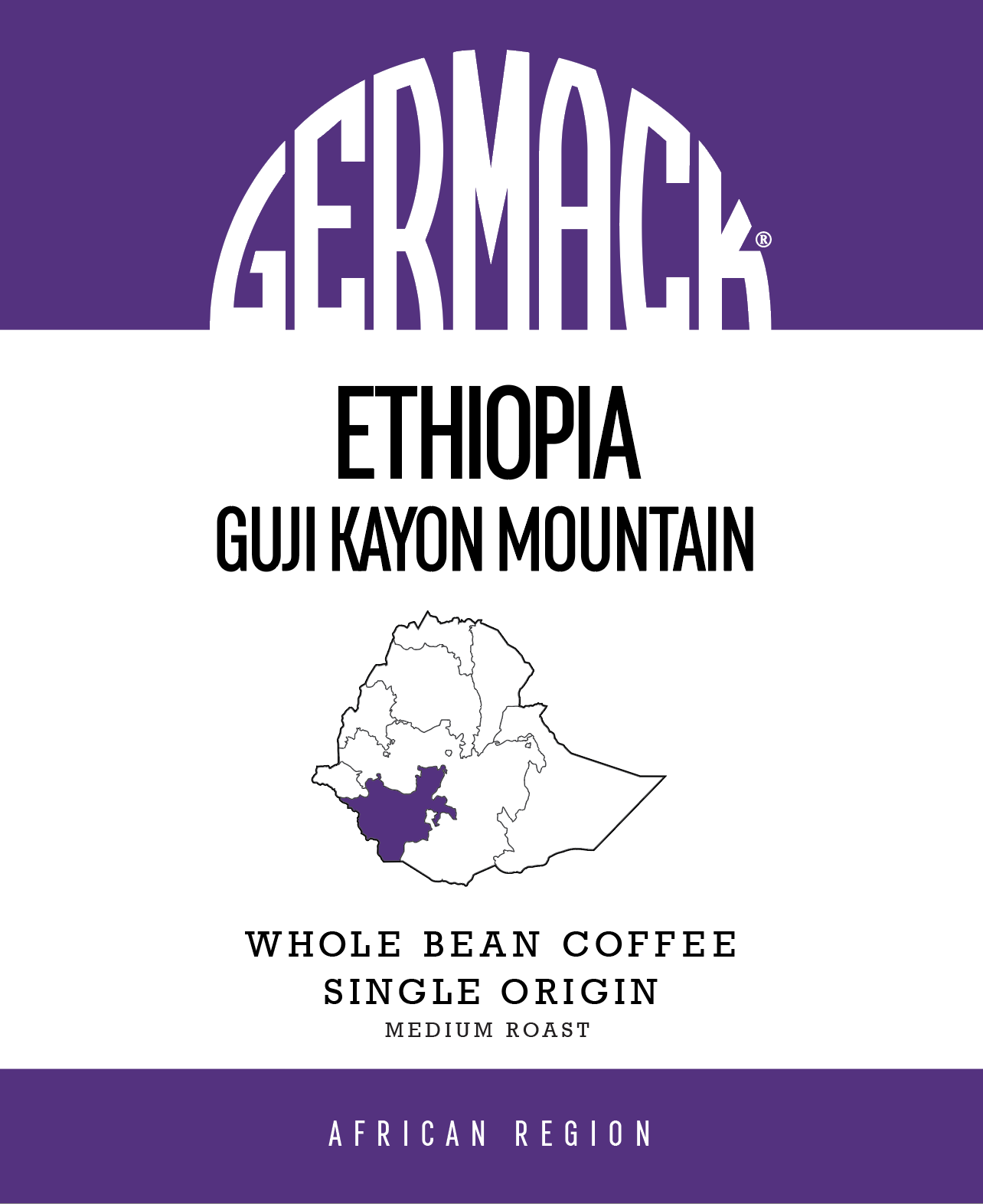 Germack Coffee (5 LB.) - Ethiopia Guji Kayon Mountain
