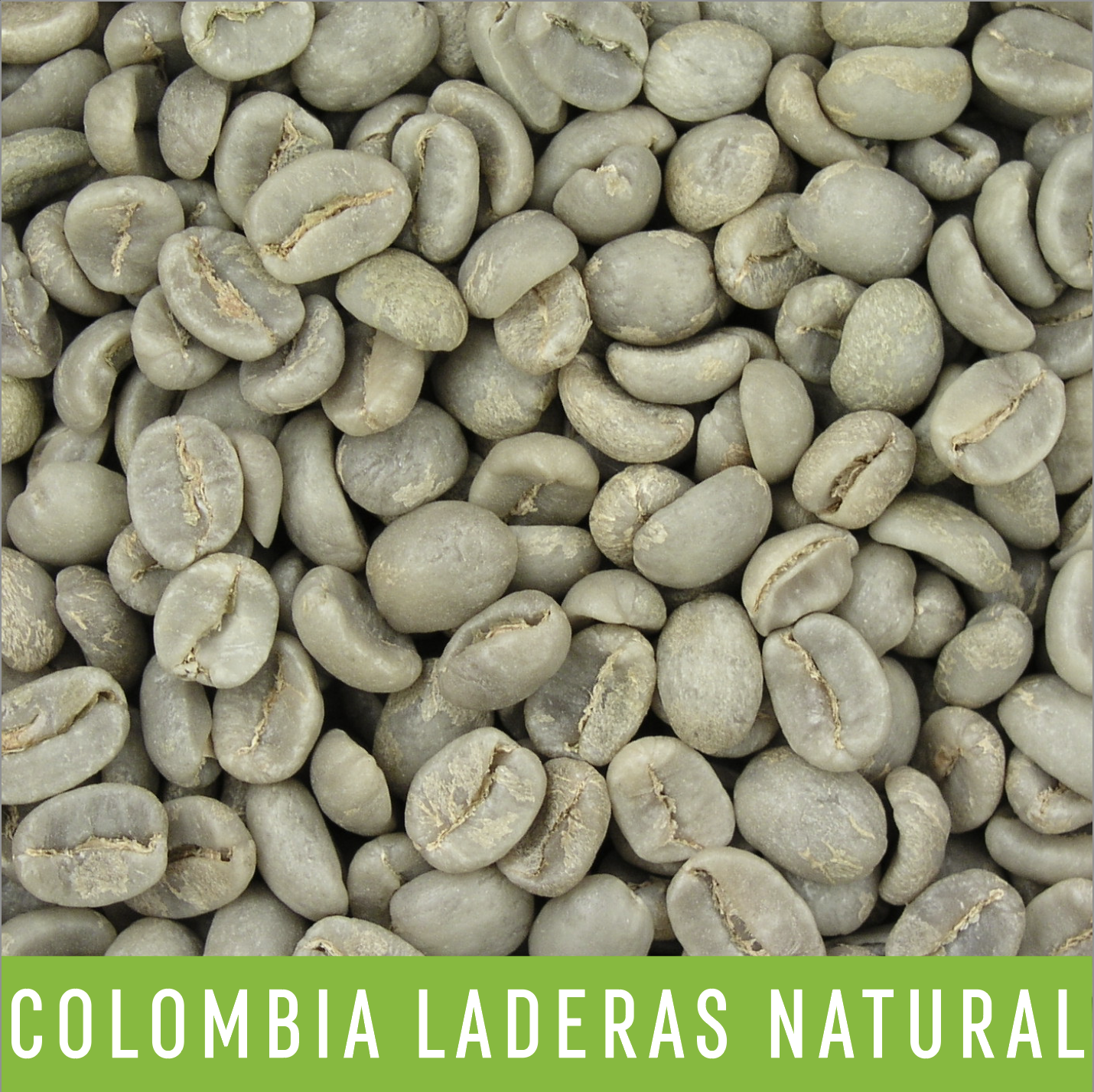 Green Coffee Beans: Colombia Laderas Natural - 1 LB