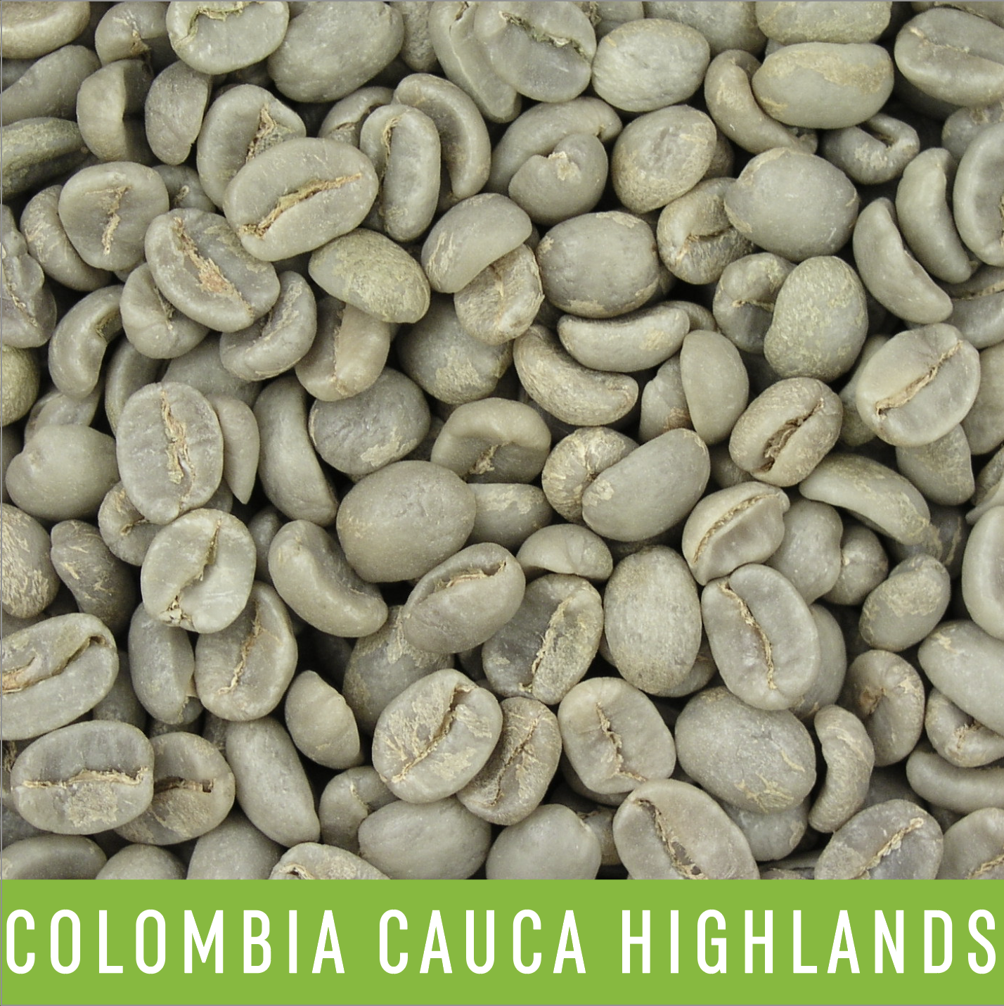 Green Coffee Beans: Colombia Cauca Highlands - 1 LB