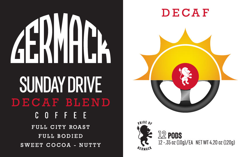 Germack Coffee K-Pods - Sunday Drive (DECAF) - (12 pack)